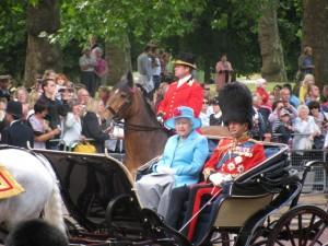 London Queen Elizabeth at Trooping of the Colours